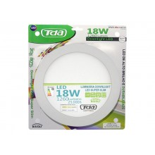 Downlight LED Redondo de Embutir 18W Bivolt TDA